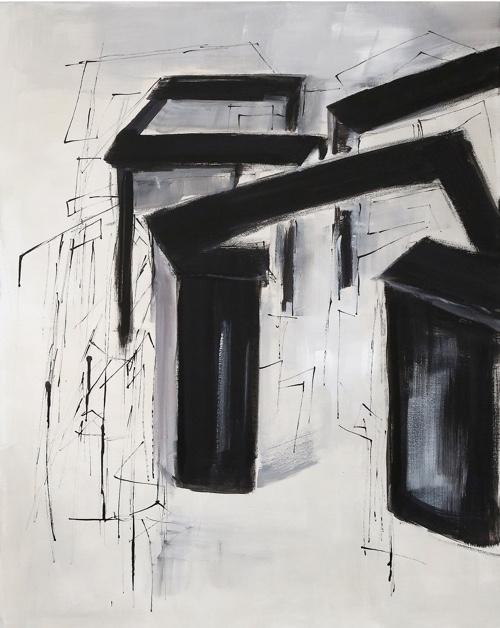 Anne-Marie Sprenger Labyrinth II Acryl Tusche a. LW 2018 100x80